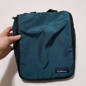 Vintage L.L. Bean Hygiene Travel Teal Zip Up Bag